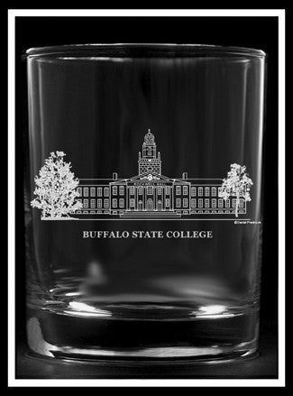 Buffalo State College Rocks Glass