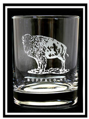 Buffalo Standing Rocks Glass