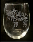 Buffalo Foods Stemless Wine Glass