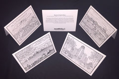 Buffalo NY Coloring Notecards