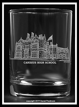 Canisius High School collector's Edition glass