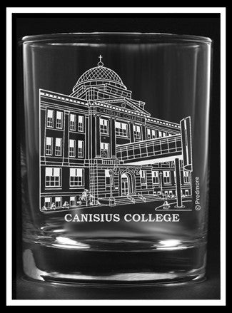 Canisius College Rocks Glass