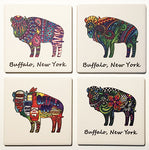 buffalo coasters, ceramic buffalo coasters, buffalove, buffalo new york, buffalo gifts