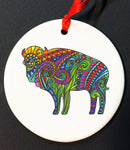 COLORS OF LIFE BUFFALO ORNAMENT