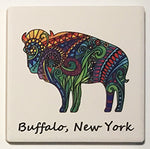 buffalo coaster, ceramic coasters, buffalo gifts, buffalove