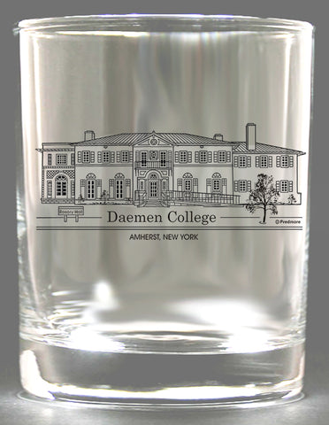 Daemen College Rocks Glass