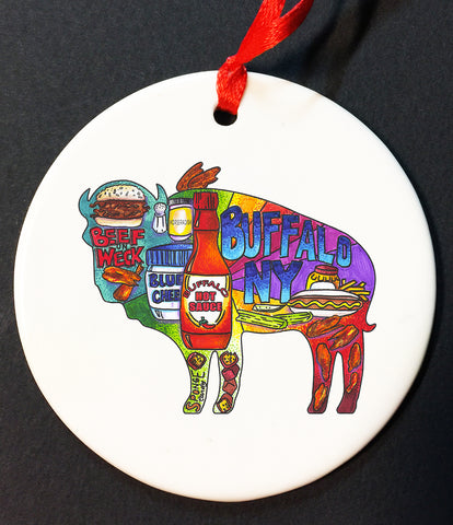 buffalove, 716 Buffalo ny, buffalo glassware, billieve, buffalo gifts, rustic buffalo, buffalo ornament