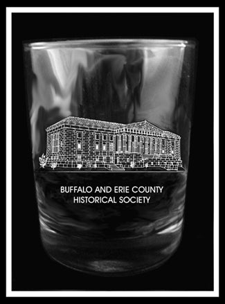 Buffalo History Museum Rocks Glass