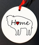 HOME BUFFALO ORNAMENT