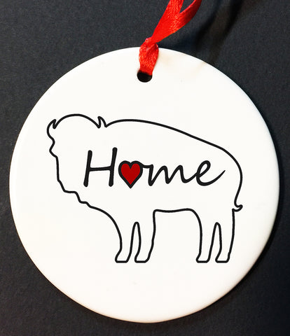 home buffalo christmas ornament, buffalove, 716 Buffalo ny, buffalo glassware, billieve, buffalo gifts