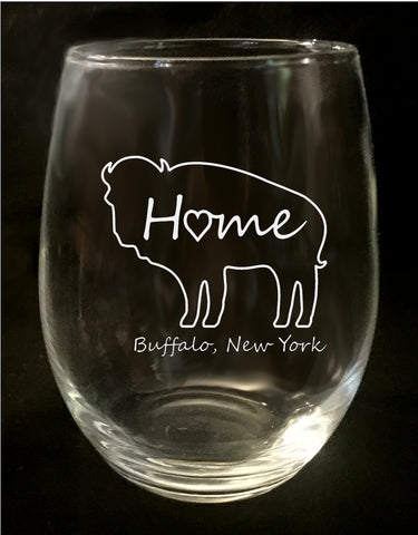 Buffalo Home Stemless Wine Glass