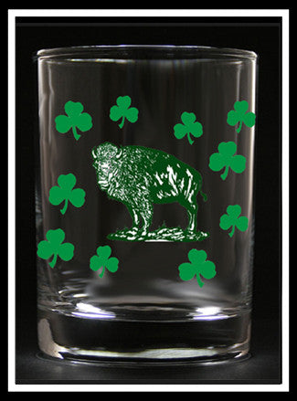 Irish Buffalo Rocks Glass