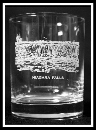 Niagara Falls Rocks Glass