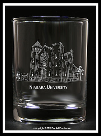 Niagara University Collector's Glass
