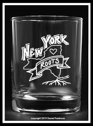 New York Roots collector's glass
