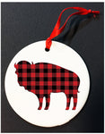 PLAID BUFFALO, NY ORNAMENT