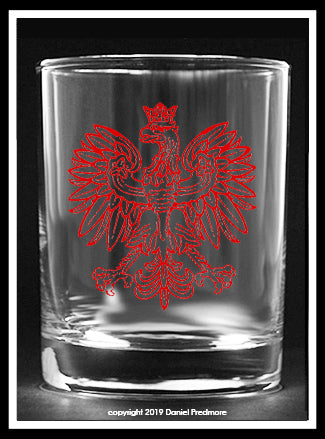 Polish Falcon Collector's Glass
