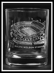 Ralph Wilson Stadium Rocks Glass