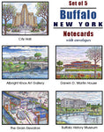 Buffalo Architecture Notecards - Set of 5 - city etc