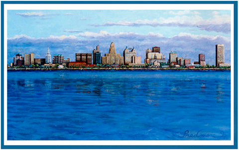 "Buffalo Skyline Color Print - 17 ""x 22"""