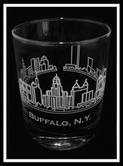Buffalo Skyline Rocks Glass