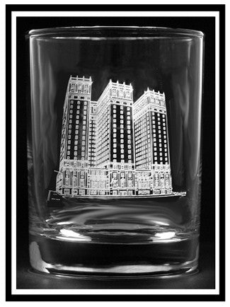 Statler Towers Rocks Glass