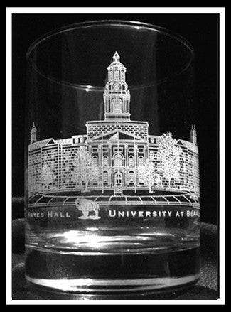 UB Hayes Hall Rocks Glass
