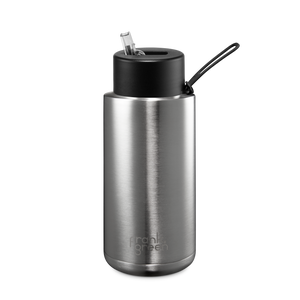Frank Green Ceramic Reusable Bottle with Straw Lid 1L (34oz) - Stainless Steel