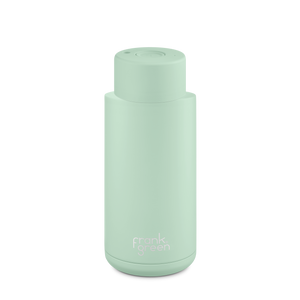 Frank Green Ceramic Reusable Bottle with Push Button Lid 1L (34oz) - Mint Gelato Green