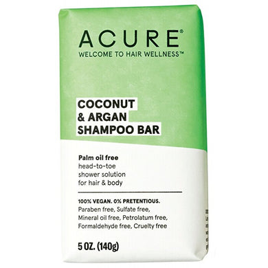 Acure Coconut & Argan Shampoo Bar (140g)