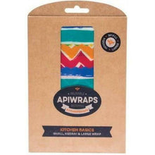 Load image into Gallery viewer, Apiwraps Reusable Beeswax Wraps - Kitchen Basics Pack (3 Pack - S, M, L)