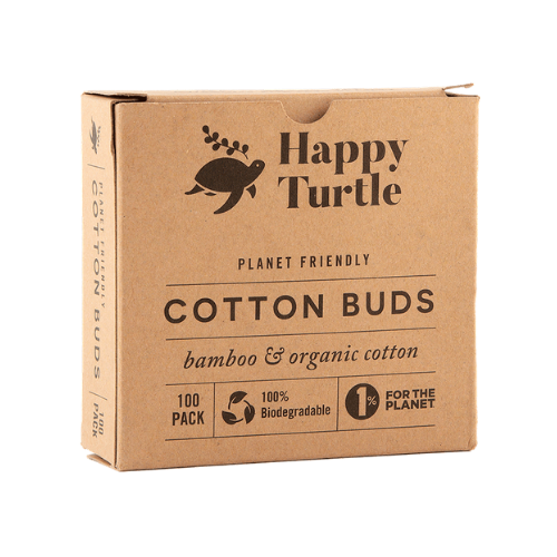 Happy Turtle Organic Cotton & Bamboo Cotton Buds – Flip Lid – 200 pack (Copy)