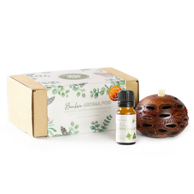 Banksia Gifts  Gift Box Set - Mini Aroma Pod with Peppermint Oil