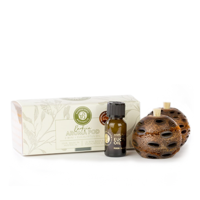 Banksia Gifts Gift Box Set - Mini Aroma Pods with Eucalyptus Oil (2 Pack)