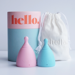 Hello Menstrual Cup - Small/Medium-Menstrual Cups-MintEcoShop