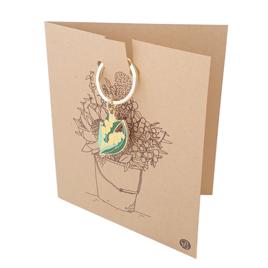Banksia Gifts Gift Card with Keyring - Wattle