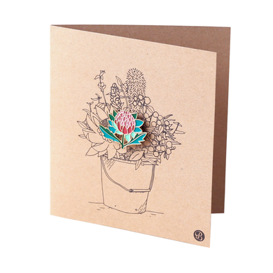 Banksia Gifts Gift Card with Magnet - Waratah