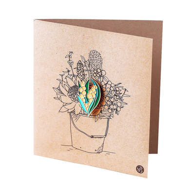 Banksia Gifts Gift Card with Magnet - Wattle