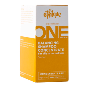 Ethique Concentrate Shampoo - Balancing For Oily to Dry Hair - Sorbet (50g)