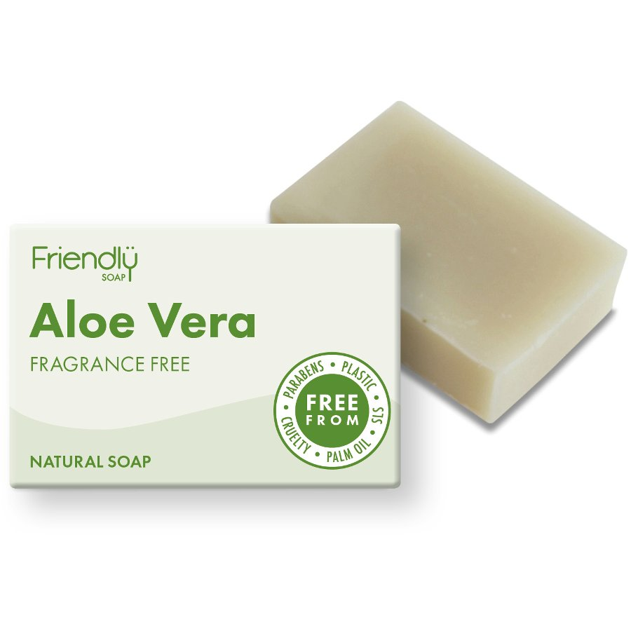 Friendly Soap Aloe Vera Natural Soap (Fragrance-Free)
