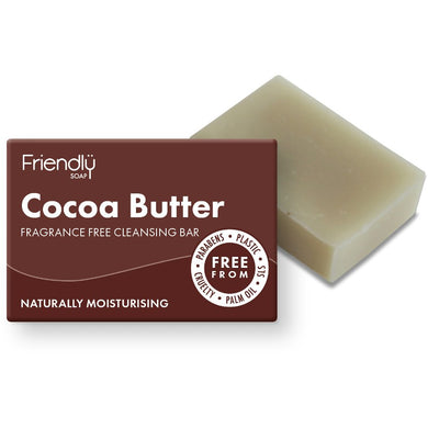Friendly Soap Cocoa Butter Cleansing Bar for Face and Body (Fragrance-Free)