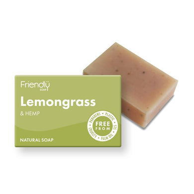 Friendly Soap Lemongrass and Hemp Natural Soap Bar