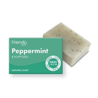 Friendly Soap Peppermint and Poppy Seed Exfoliating Natural Soap
