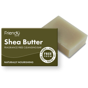 Friendly Soap Shea Butter Cleansing Bar for Face and Body (Fragrance-Free)