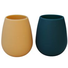 Load image into Gallery viewer, Porter Green Fegg Unbreakable Foldable Silicone Tumblers - Durham (Ink & Ochre)