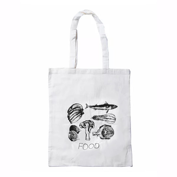 Calico Tote Bag - Food