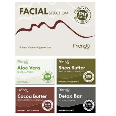 Friendly Selection Set - Facial Soap Bars (4 Pack)
