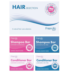 Friendly Selection Set - Hair Shampoo & Conditioner Bars (4 Pack)