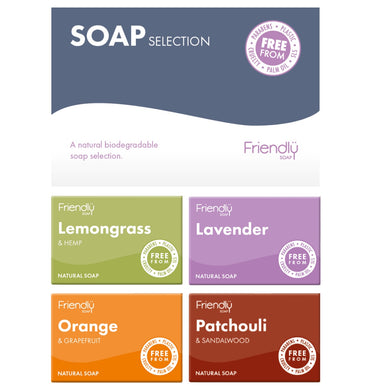 Friendly Selection Set - Natural Soap Bars (4 Pack)