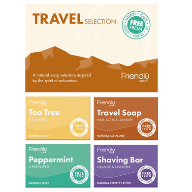 Friendly Selection Set - Natural Travel Soap Bars (4 Pack)